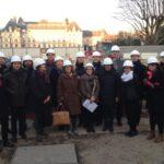 Les représentants des GBC européens sur le chantier de la Maison Ile de France le 1/12/16 ©Deerns