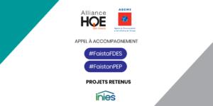 Appel à accompagnement #FaistaFDES #FaistonPEP – Les projets retenus et l'appel à prestataires